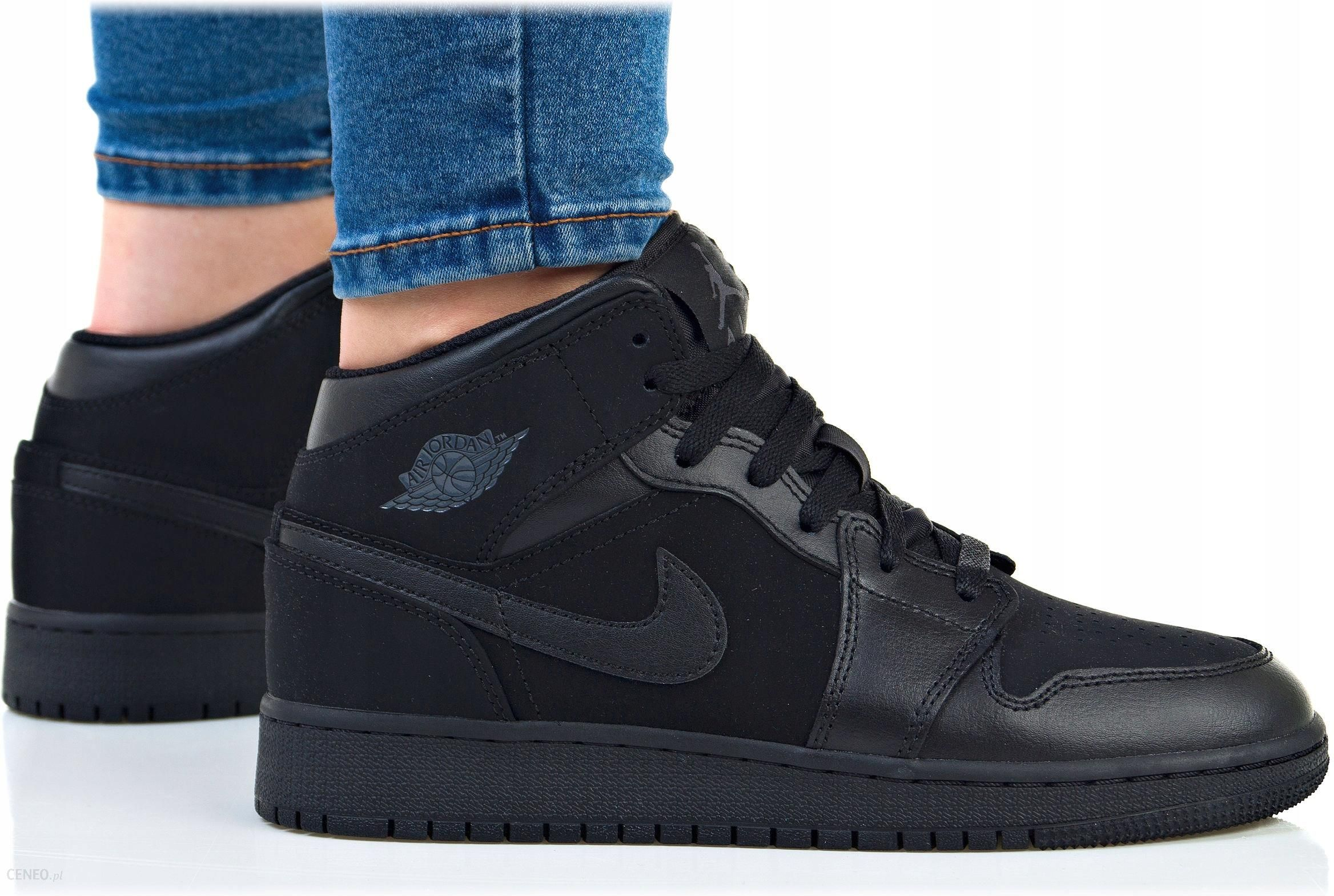 Buty Nike Damskie Air Jordan 1 MID Bg 554725 050 Ceny i opinie Ceneo.pl