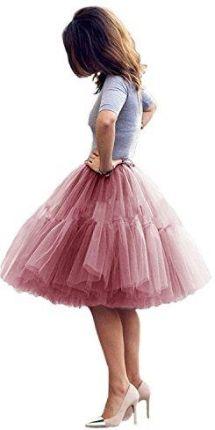 Amazon tiulową spódniczką 5 sytuacji dla pań Vintage Tutu księżniczka fałdy  petticoat balet Rock halka spódnica 6b371f9a5c
