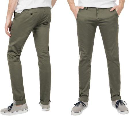 4901aa8cc6e21 Spodnie Męskie Bawełniane Chinosy 8313 88 cm oliwk Allegro