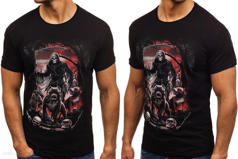 d9b7a691b T-shirt Męski Z Nadrukiem Czarny F 005 Rozmiar_m - Ceny i opinie ...