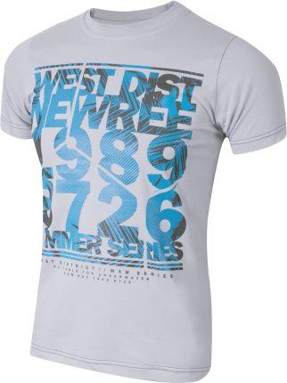 a91fe193d T-shirt Koszulka Koszulki Męskie KM05 r 5XL popiel Allegro