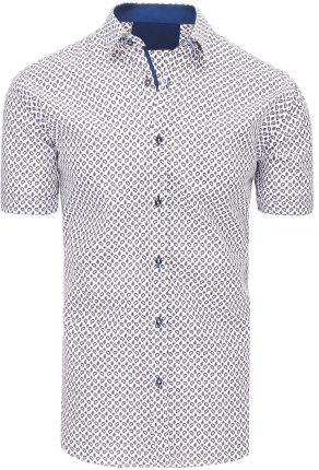 ade6c6bb603588 Biała koszula męska we wzory (kx0829) - Biały - Ceny i opinie - Ceneo.pl