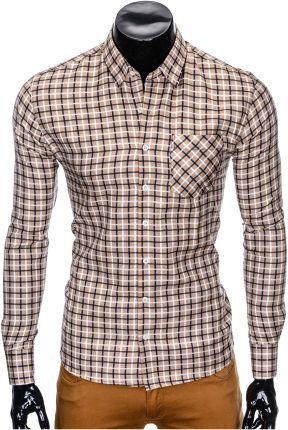 fac751a3250b5d Ombre Clothing KOSZULA MĘSKA ELEGANCKA Z DŁUGIM RĘKAWEM K428 ...