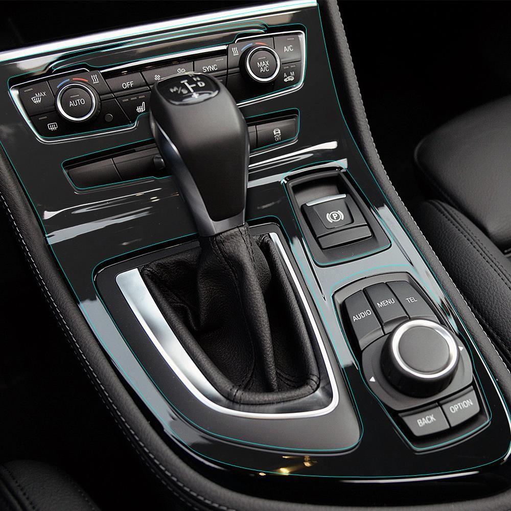 Aliexpress car interior transparent protective film center control gear panel sticker for bmw 2 for Automotive interior protective film
