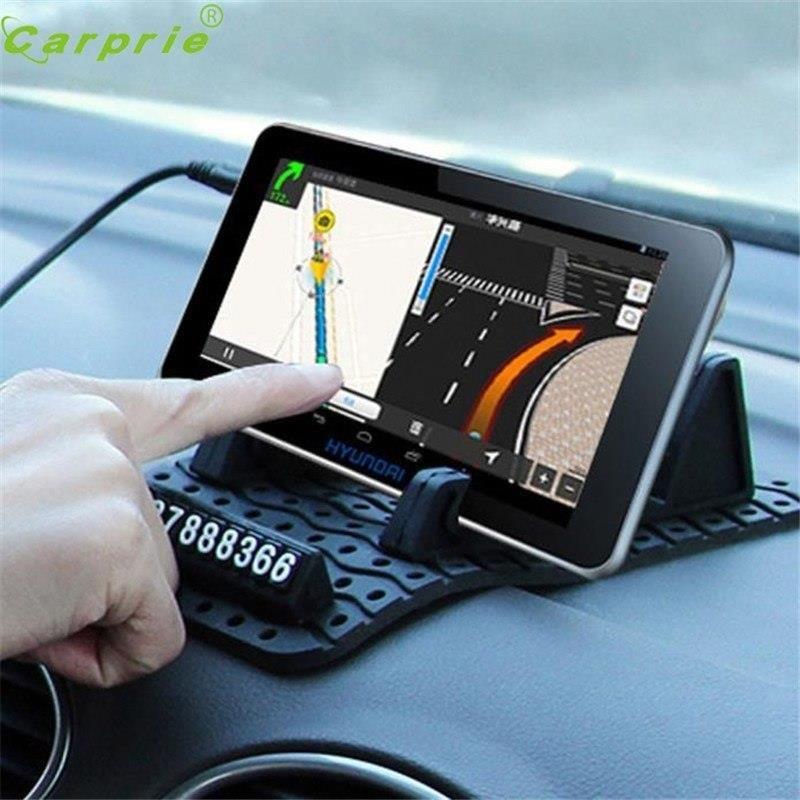 Anti-Slip Car Dashboard Sticky Pad GPS Mobile Phone Holder Non-Slip Mat-Black x4
