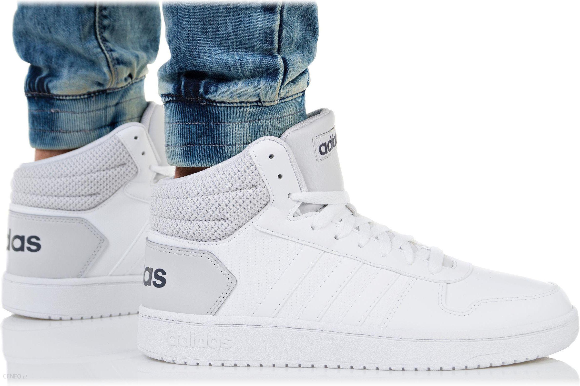 sneakersy męskie adidas hoops 2.0 mid białe