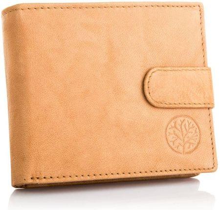 b54d45dea013f Skórzany portfel męski Betlewski Rfid mały zapinka Allegro