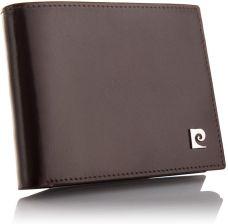 cfc8d90f7423b Pierre Cardin portfel męski skórzany poziomy brąz Allegro