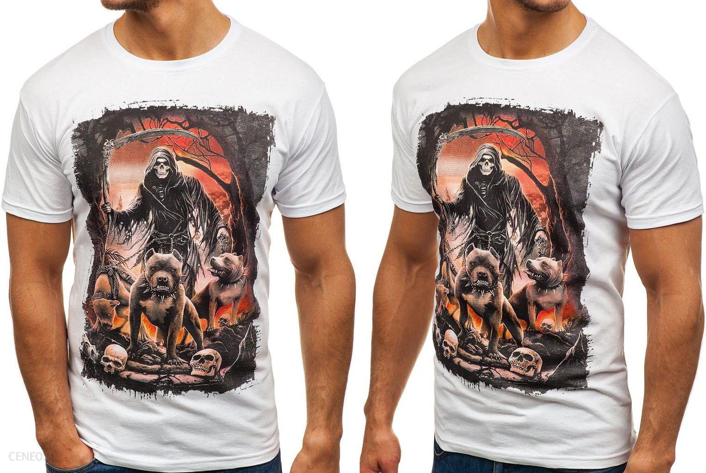 0c602dacc T-shirt Męski Z Nadrukiem Biały F. 005 Rozmiar_l - Ceny i opinie ...