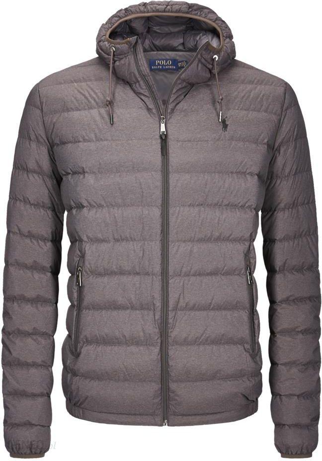 6dd2c1f529181 Polo Ralph Lauren, Ekstra lekka stylowa puchowa kurtka pikowana z kapturem  Szary - zdjęcie 1
