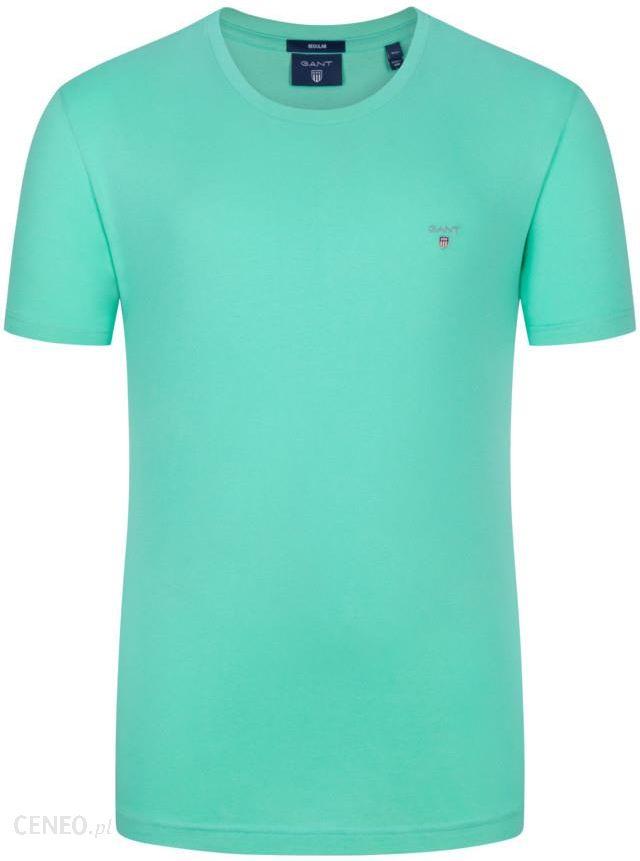 ead4d0c10 Gant, T-shirt, regular fit Zielony - Ceny i opinie - Ceneo.pl