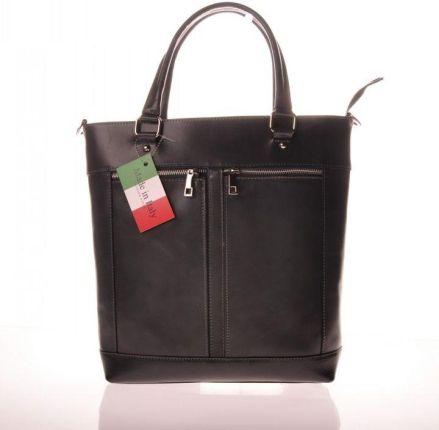 ba2c0a35f093a Torebka skórzana - Fabulous black saffiano zamek GOLD L D - Ceny i ...