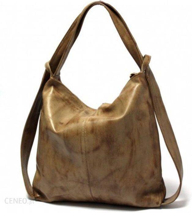 4aedebc922b47 Torebka   plecak skórzany WuKaDor W902 Vintage beż - Ceny i opinie ...