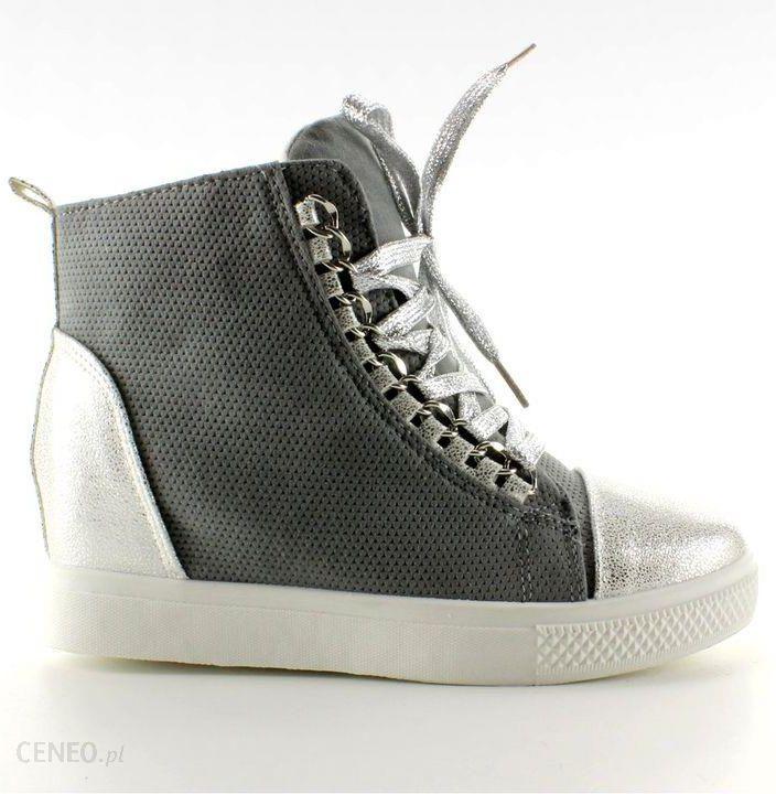 Sneakersy z łańcuszkami R72 Grey2 Silver r.36 Ceny i opinie Ceneo.pl