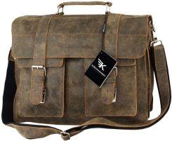 09c54d8c3012e Torba na laptopa 15,6 skórzana Kochmanski vintage Allegro