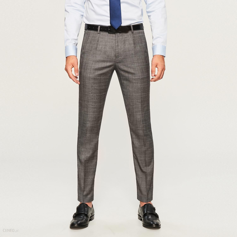 Męskie Adidas Spodnie W Kratkę Spodnie W Kratkę niebieskie