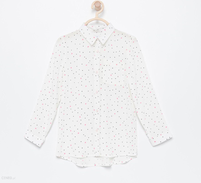 63cfda10261f89 Reserved - Wzorzysta koszula z kieszonką - Biały - Ceny i opinie ...