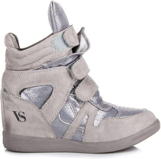 Vices Szare Sneakersy Strangers Ceny i opinie Ceneo.pl