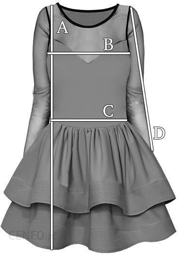 f815d679c1 Rozkloszowana Sukienka Tiul Rękaw Dekolt M109 - Ceny i opinie - Ceneo.pl