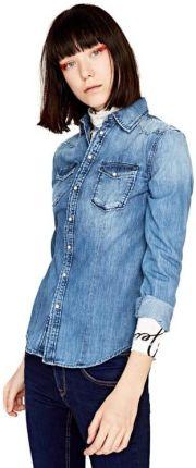 MOE Koszula w Czarną Kratkę z Wiązaną Kokardą Ceny i  eujwH