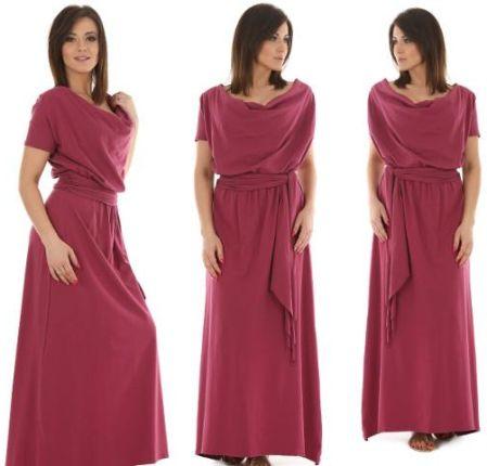 7875e49cc3 F056 Długa sukienka Maxi dekolt Woda Allegro