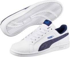 f9b8074648e3d JUNIORSKIE BUTY PUMA SMASH DENIM FS JR PUMA WHITE-BLUE D 36399401 PUMA  Martessport