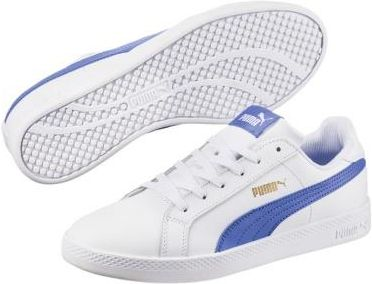 5e5982ed8edfa JUNIORSKIE BUTY PUMA SMASH WNS L PUMA WHITE-BAJA BLUE 36078013 PUMA  Martessport