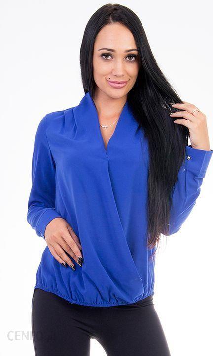 ef91e78c539dc5 GENESY B272 Damska Koszula Bluzka Wizytowa (36-46) - Niebieski Rozm. 38