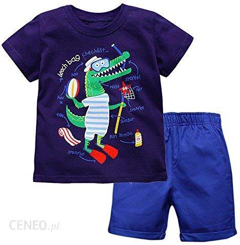 c041039961a62 Amazon vikita dzieci chłopiec słoń bawełna zestaw prowadnicowy zestaw 2  piece T-Shirt z krótkim