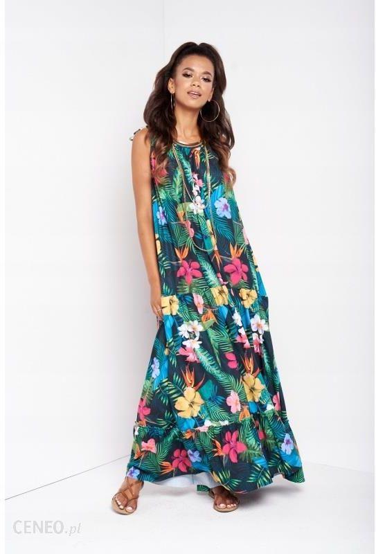dc64881d85 Zwiewna Sukienka Maxi Aloha Flower - Uniwersalny - Ceny i opinie ...
