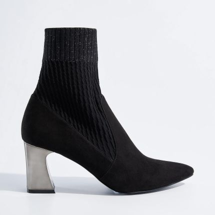 c6a25f7ff1c18 Czarne botki Solo Femme 14146 - Ceny i opinie - Ceneo.pl