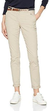 edcc77fde Amazon TOM TAILOR spodnie damskie Slim Chino with Belt - w stylu chino