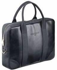 316d16577e9e1 Czarna biznesowa cienka torba na laptopa sempertus