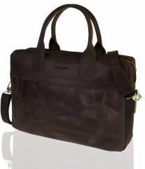 dc2c816b988a0 Ekskluzywna torba skórzana Paolo Peruzzi Vintage brązowy - Brązowy ...