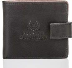 8ca059d391cba Slim adventure skórzany portfel męski paolo peruzzi czarno-brązowy