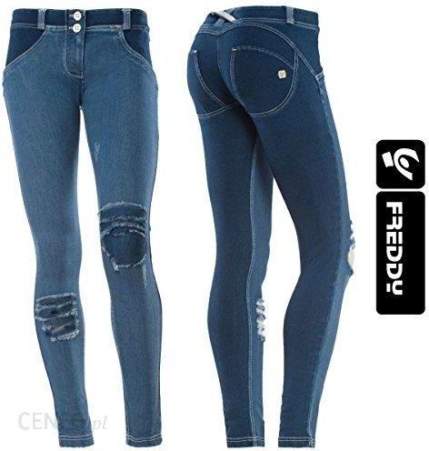 6f7a7fc722aa7 Amazon Freddy WR.UP spodnie damskie biodrówki, wąski krój, ciemne ...