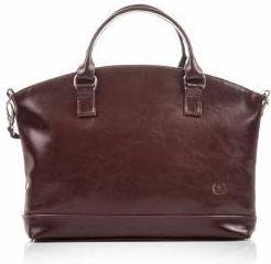 f012819df8d48 Czerwona torba na laptop ze skóry ekologicznej marki Bellugio - Ceny ...