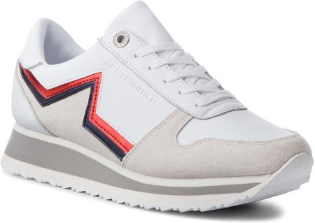 Sneakersy TOMMY HILFIGER - Star Retro Runner FW0FW03234  White 100