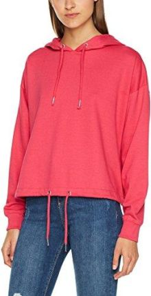da5223350 Amazon New Look damska bluza z kapturem Drawstring Crop - krój luźny 36  różowy (bright