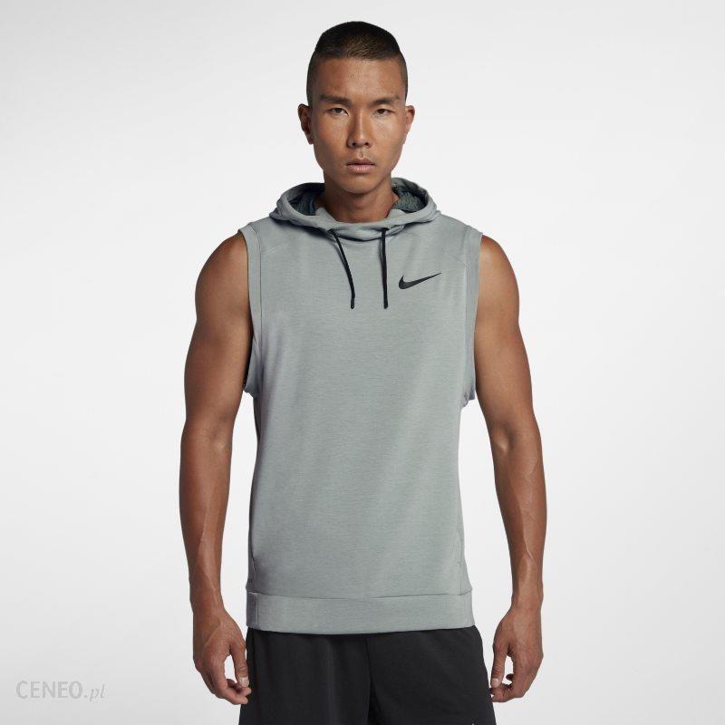 d1ca38cfc Męska koszulka treningowa bez rękawów Nike Dri-FIT Hooded - Szary - zdjęcie  1