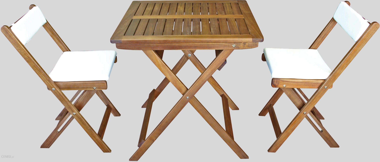 Zestaw Mebli Ogrodowych Malatec Meble Balkonowe Drewniane Składane Stół 2 Krzesła Ceny I Opinie Ceneopl