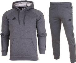 e37c68412 Adidas Dres Komplet Jr Spodnie Bluza CORE18 r.128 Allegro
