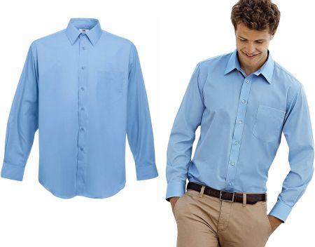 b52c6bc29 Speed.A Koszula Męska Speed.A błękitna w białe paski SLIM FIT z ...