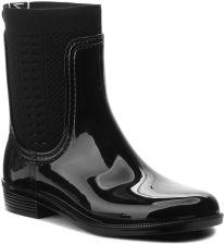 5875b17f2d73b Kalosze TOMMY HILFIGER - Tommy Knit Rain Boot FW0FW02940 Black 990 eobuwie