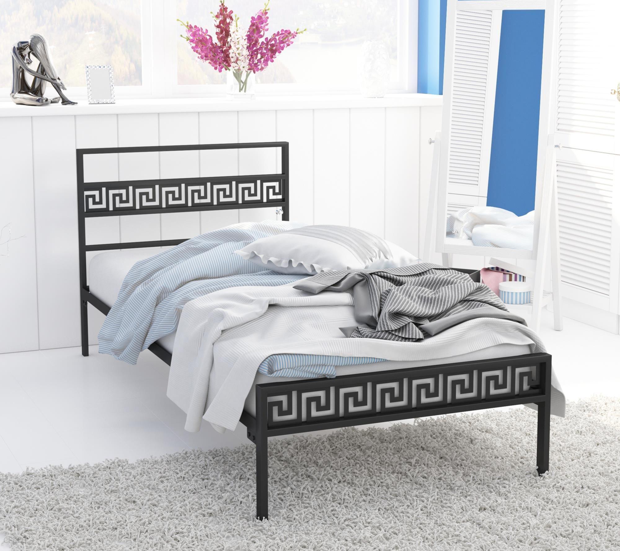 Lak System łóżko Metalowe 120x200 Wzór 9 Stelaż