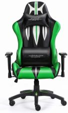 Warrior Chairs Sword Czarno-Zielony (SGB)