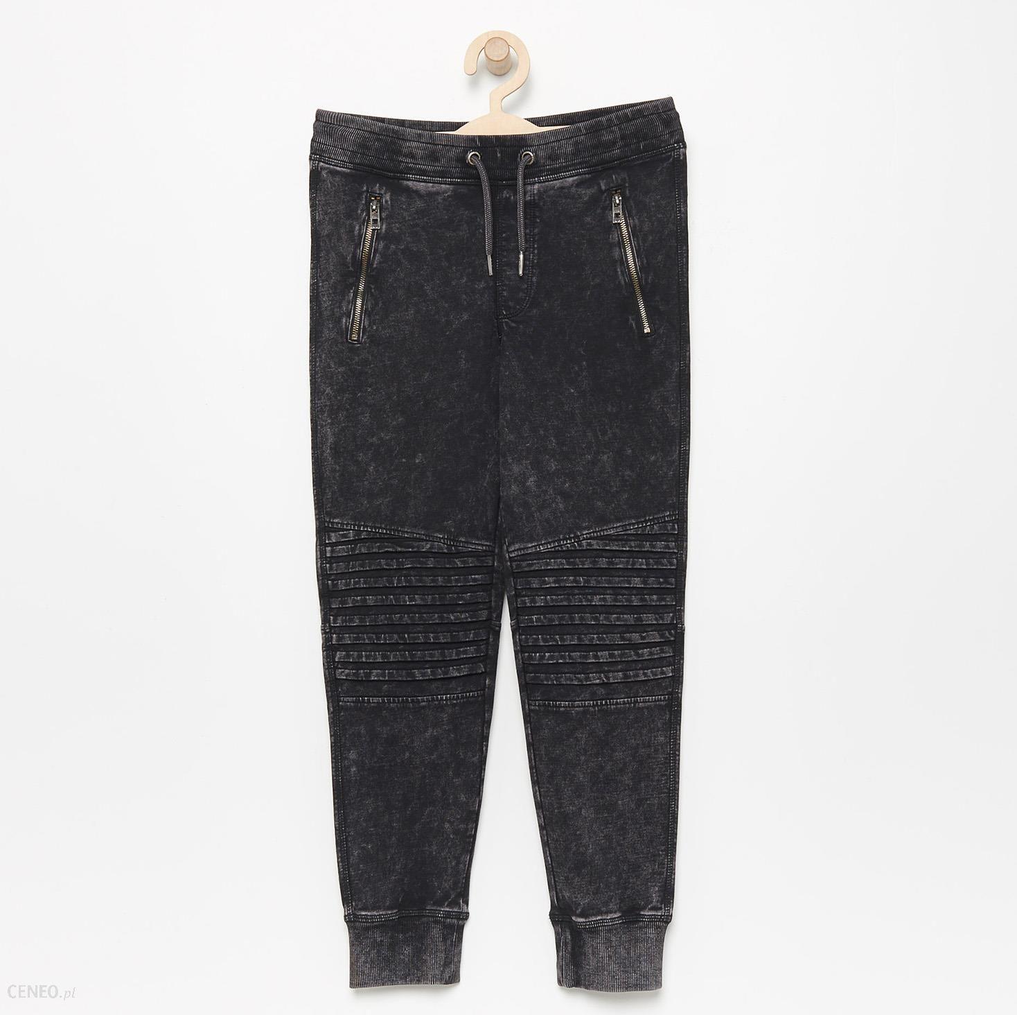 Reserved Spodnie dresowe w rockowym stylu Czarny Ceny i opinie Ceneo.pl