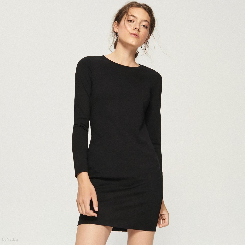 84567cdaf7f3ac Sinsay - Dzianinowa sukienka midi - Czarny - Ceny i opinie - Ceneo.pl