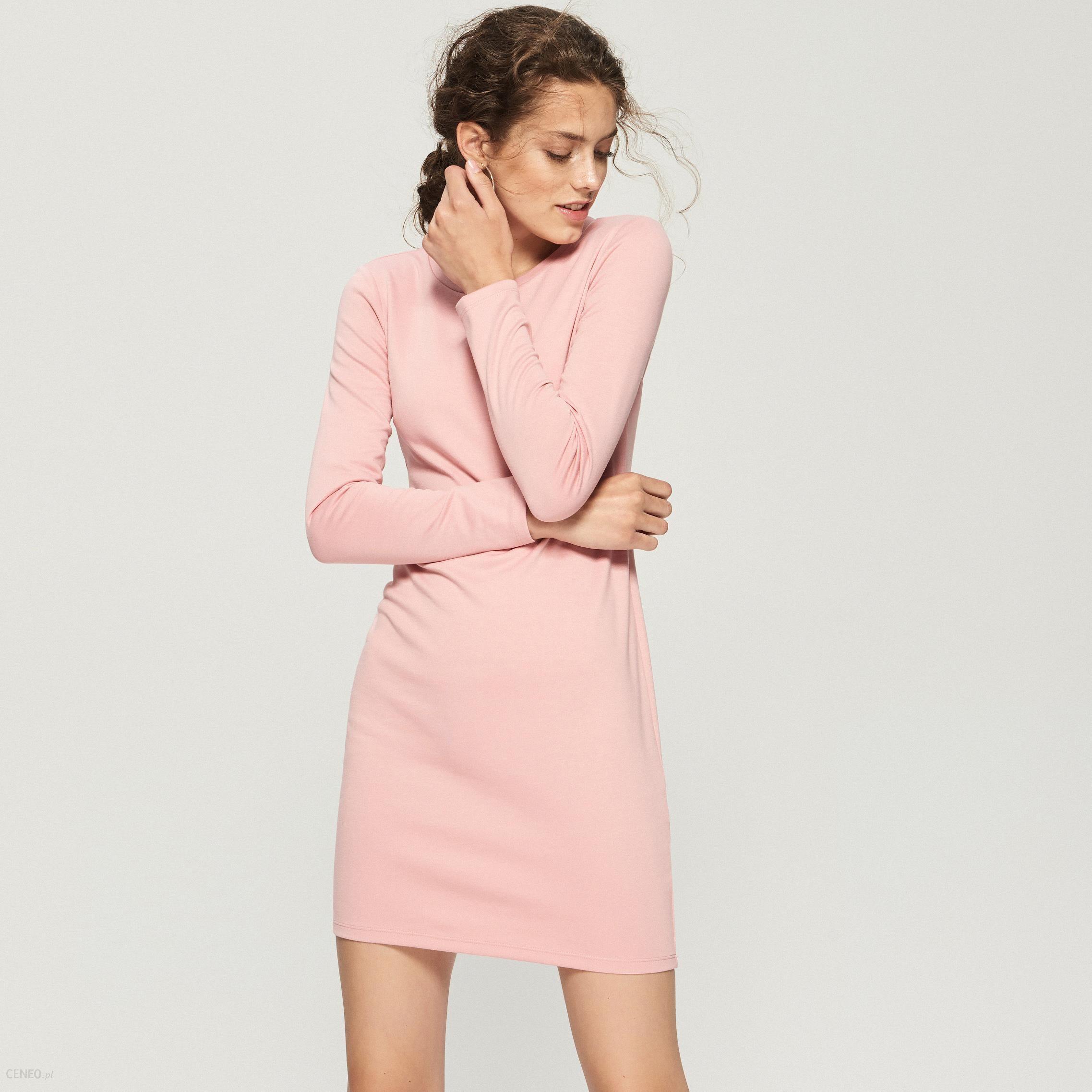 265fa33e3e Sinsay - Dzianinowa sukienka midi - Różowy - Ceny i opinie - Ceneo.pl