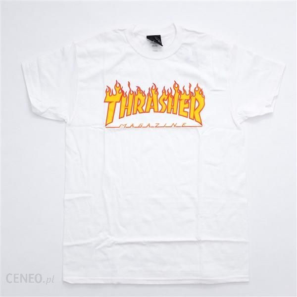 THRASHER Flame Logo T Shirt White (WHITE ) Ceny i opinie Ceneo.pl
